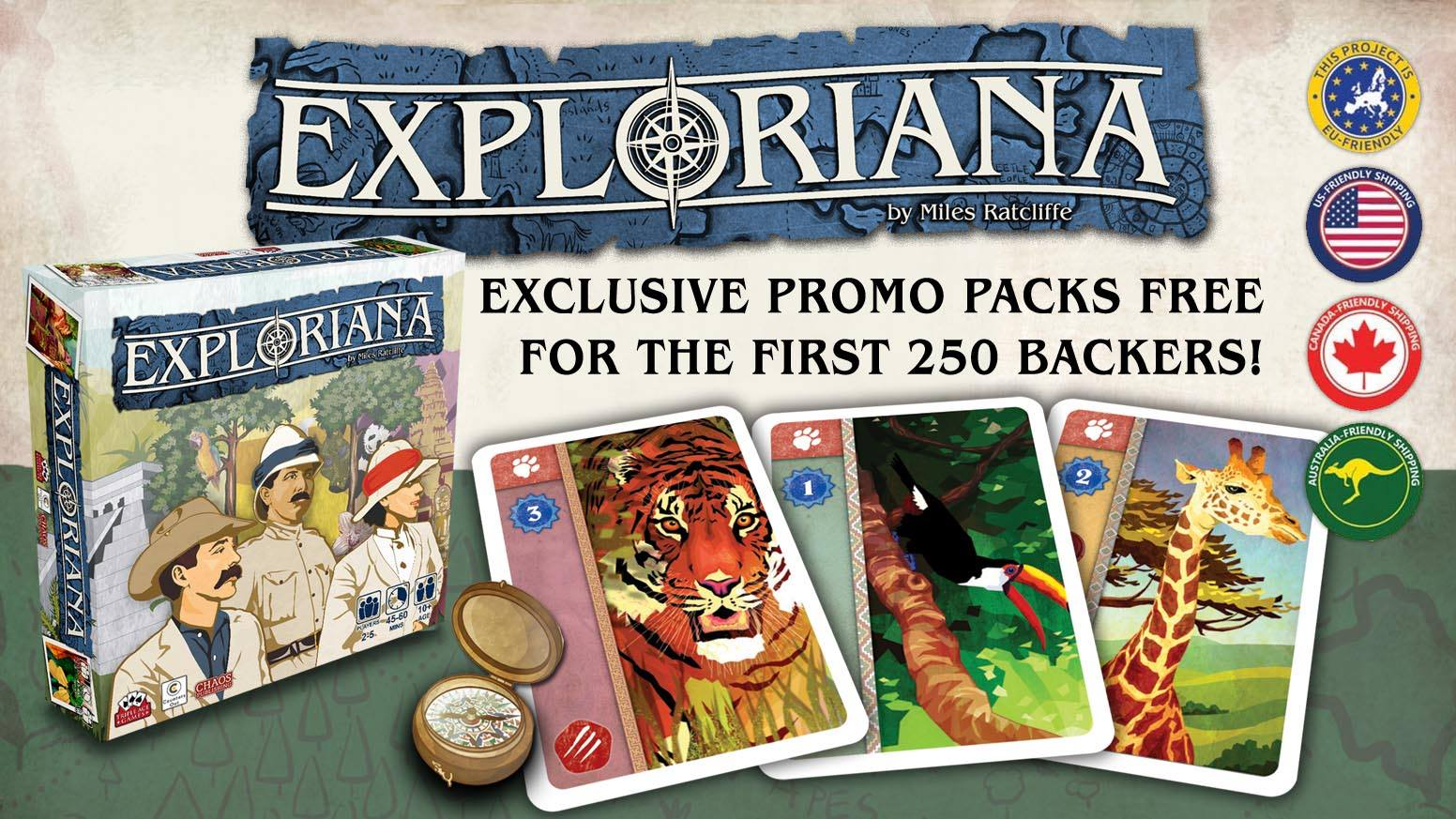Exploriana - LIVE on Kickstarter!